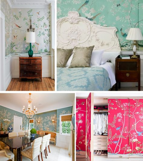 Chinoiserie wall decorating is easy to achieve using stencils from Cutting Edge Stencils. http://www.cuttingedgestencils.com/chinoiserie-stencil-mural-wall-design-wallpaper.html