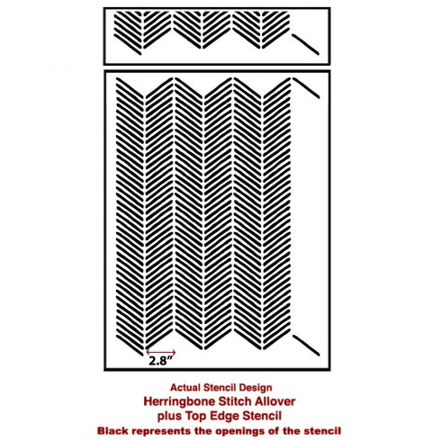 The Herringbone Stitch Allover Stencil from Cutting Edge Stencils. http://www.cuttingedgestencils.com/herringbone-stitch-allover-pattern-wall-stencil.html