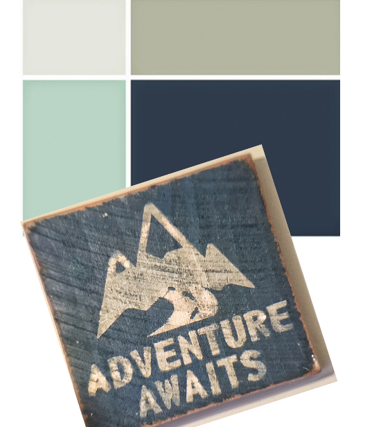 Inspiration and color scheme for a stenciled boy's nursery using an Indian Arrows Stencil. http://www.cuttingedgestencils.com/indian-arrows-stencil-pattern-for-walls.html