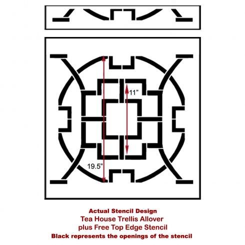 The Tea House Trellis Allover Stencil from Cutting Edge Stencils. http://www.cuttingedgestencils.com/tea-house-trellis-allover-stencil-pattern.html