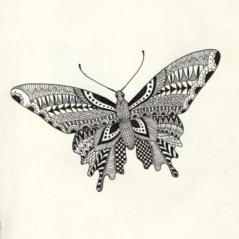 The Butterfly Doodle Stencil Kit from Cutting Edge Stencils includes three stencil shapes for doodling. http://www.cuttingedgestencils.com/butterfly-stencil-doodle-stencils-doodling-coloring.html