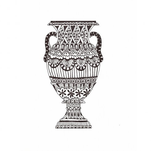 The Vases Doodle Stencil Kit from Cutting Edge Stencils includes two stencil shapes for doodling and tangling. http://www.cuttingedgestencils.com/vase-doodle-stencils-doodling-coloring-stencil.html