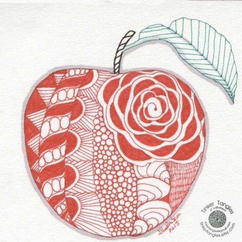 The Fruit Doodle Stencil Kit from Cutting Edge Stencils includes two stencil shapes for doodling and adult coloring. http://www.cuttingedgestencils.com/fruit-doodle-stencil-doodling-coloring-tangling.html
