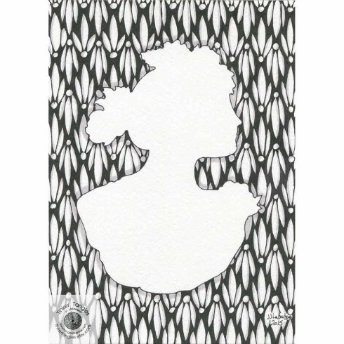The Cameo Doodle Stencil Kit from Cutting Edge Stencils includes three stencil shapes for doodling. http://www.cuttingedgestencils.com/cameos-doodle-stencils-doodling-coloring-tangling.html