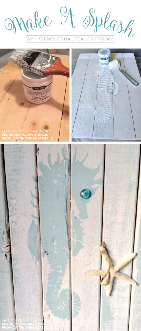 Make A Splash With Stenciled Nautical Driftwood
