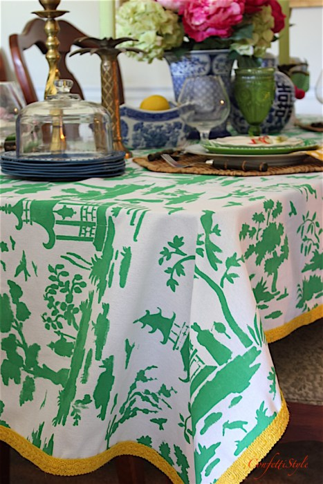 How To Make A Toile Tablecloth Using Stencils